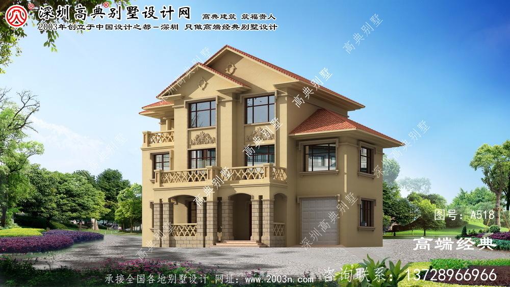 阜南县新古典中式别墅外观