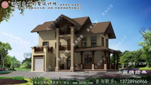 寿县农村别墅围墙设计图