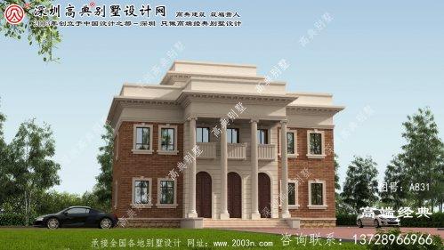 南靖县三层简欧风格别墅设计图