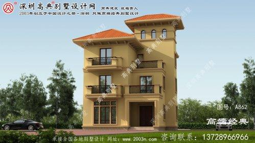 建阳市自建欧式四层别墅设计效果图
