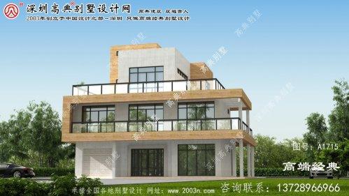 榆社县现代三层半别墅设计图超乎想象的精致生