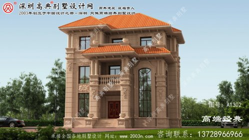 天河区欧式石材别墅平面图纸
