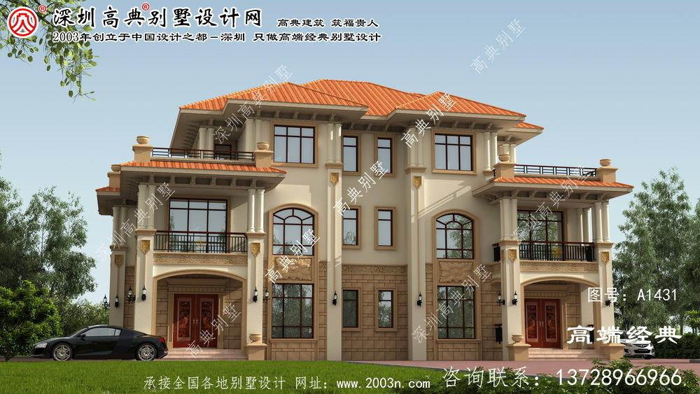 连南瑶族自治县双拼别墅三层设计图