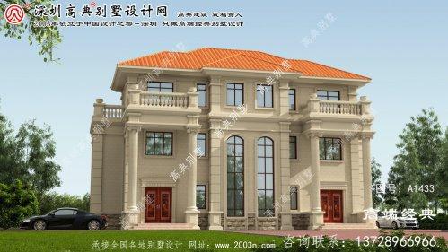 连州市农村三联排别墅设计图