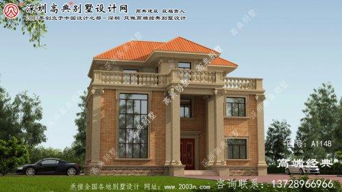 凤山县错层设计的三层小屋。