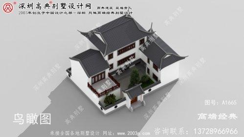 津市市农村自建中式庭院图纸设计方案外观精美