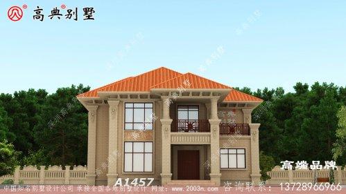 农村建房风水漂亮经济实用二层农村小别墅