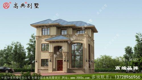 中型别墅设计图外观图片漂亮、精致
