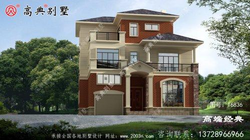 三层简欧房子户型方案图,比较实用南安市