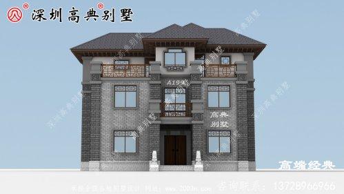 新型 农村三层楼的设计 图样 及平面图 。