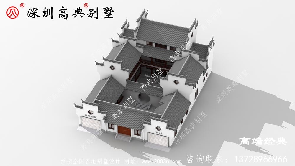别墅设计图,外观看着都比较的精致和简约