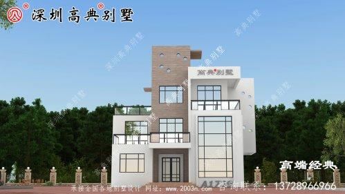 4层经典欧式别墅设计图,时尚大气,养老就选这