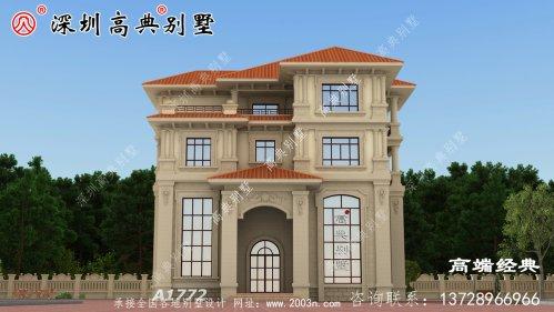 别墅设计图,简单大气又实用,更适合农村自建