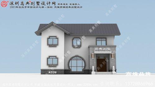 30万就可以搞定的农村自建别墅,超值的二层别墅