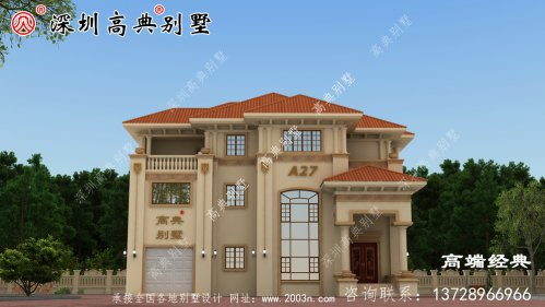 现代化独栋三层别墅设计图,最受