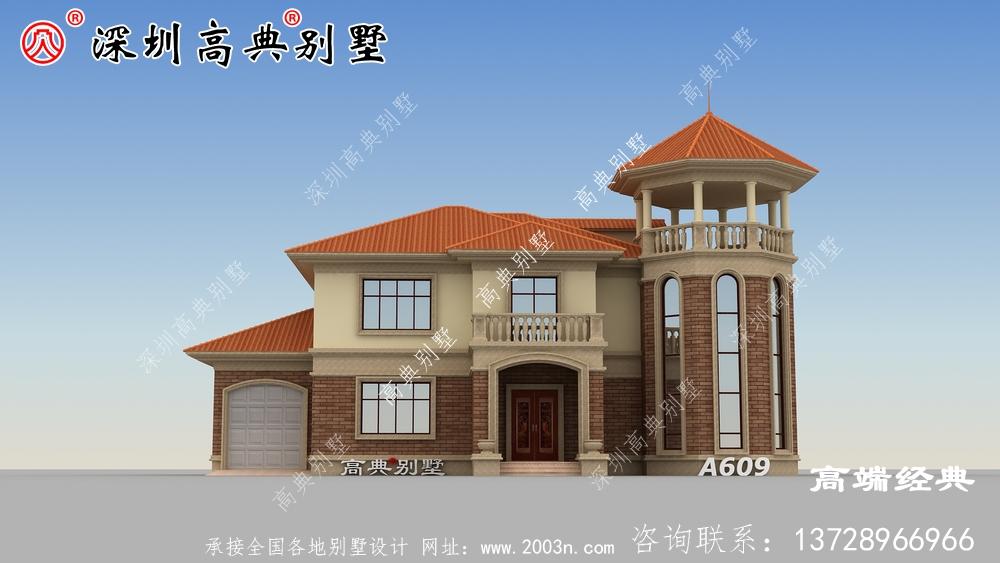 农村二层自建房设计图纸,大户型,家里人口多的可以这样建