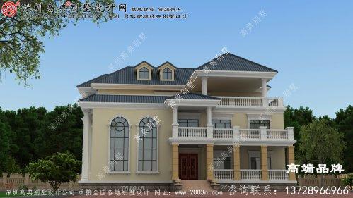 农村三层复式自建房屋设计图,主体造价在70万左