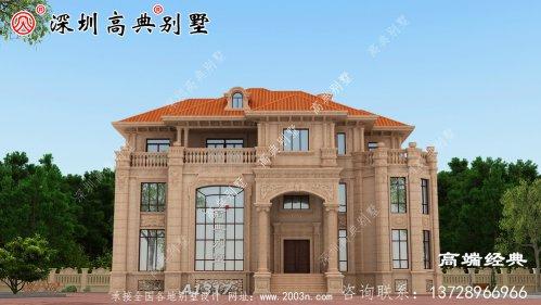 高档的三层豪华别墅,成就了家乡一道美丽的风