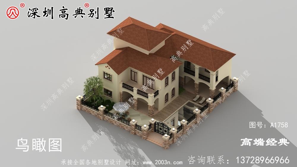 新农村自建房设计图及效果图,外观典雅,内部布局经典实用。