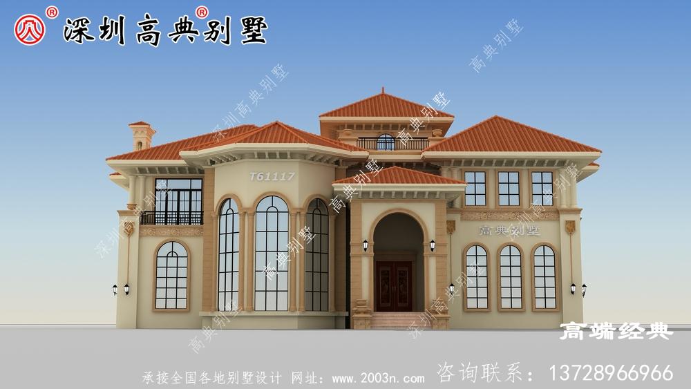 二楼小楼设计图,精致美观,乡村房屋建筑的必备。