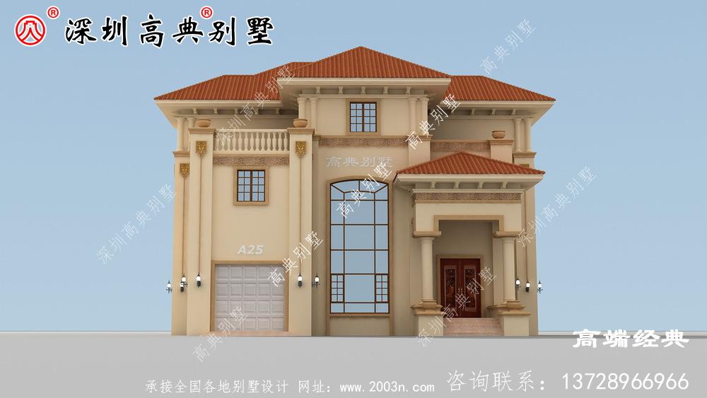独栋三层别墅设计图,建成太气派,让邻居羡慕去吧