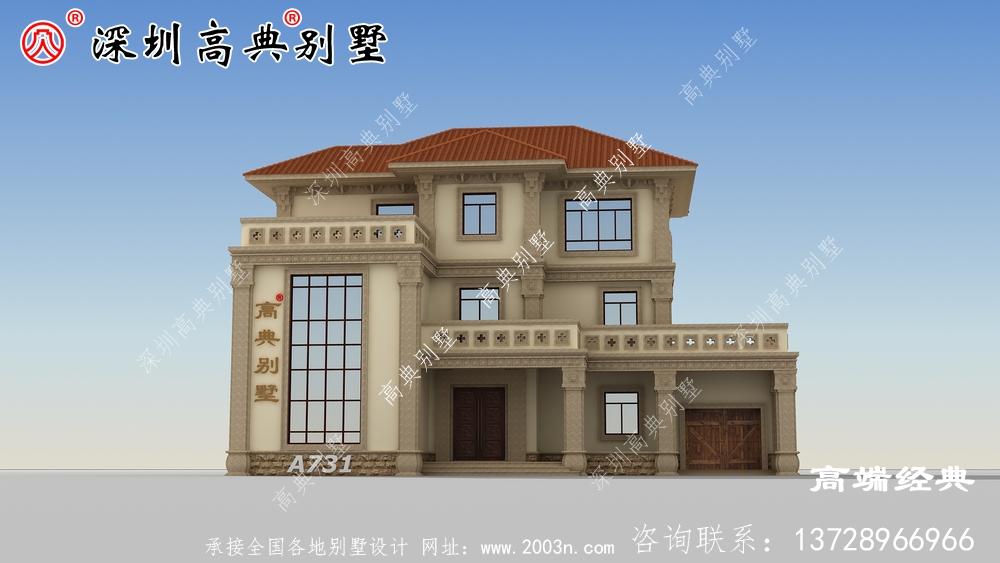 乡村二层半小户型别墅设计图,建造一座绝对是人生赢家。