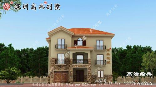 实用的三层别墅,专为农村生活量身打造