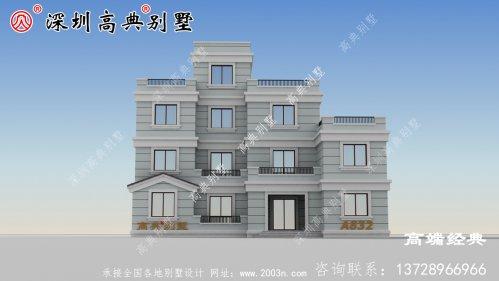 豪华三层半别墅豪宅户型图