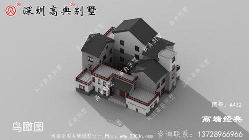别墅的外观素雅,结构设计的也非常丰富