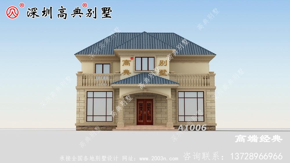 农村二层住宅设计图,经济实惠还好看