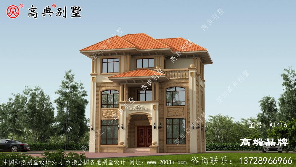屋檐的扩大可以更好地保护外墙和造型的美观度