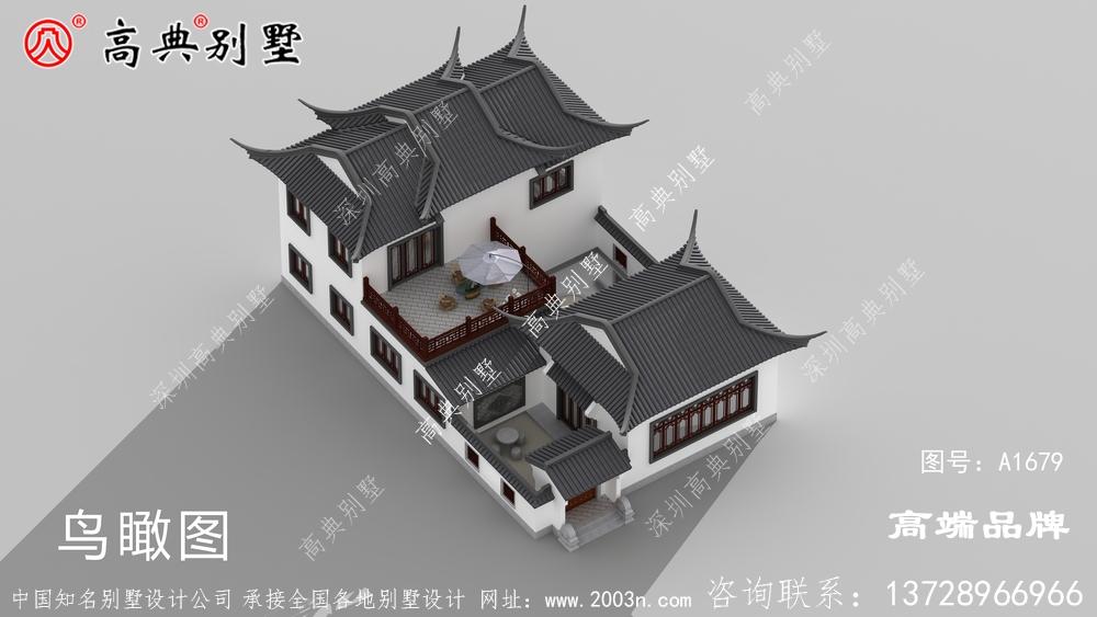 中式庭院别墅,布局外观霸气豪华
