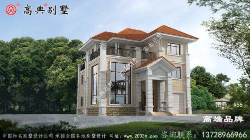 屋顶用橙色琉璃瓦,清新自然非常温馨