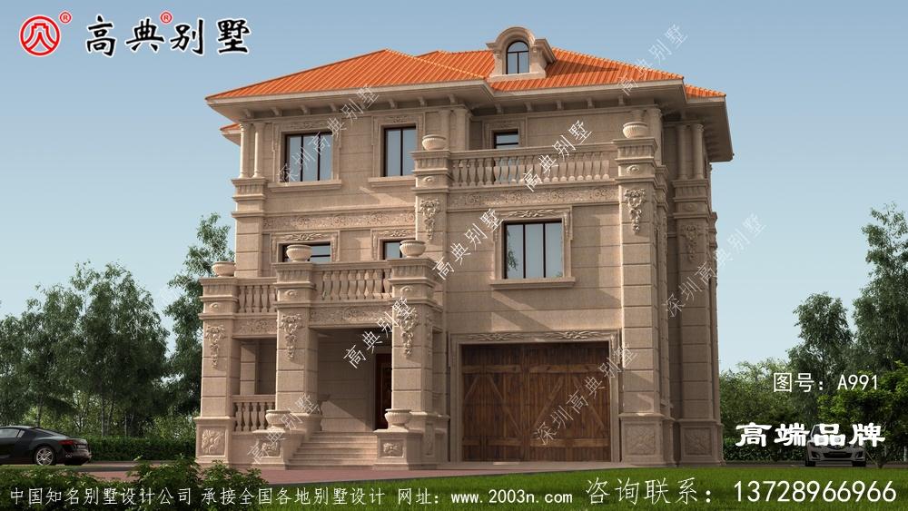外观简单颜色组合非常古典,这种别墅装饰不多又大方