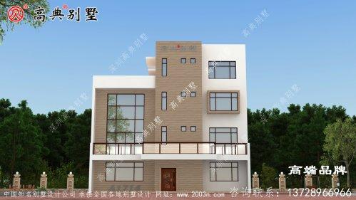 四层现代别墅设计图,简单易建,美观时尚