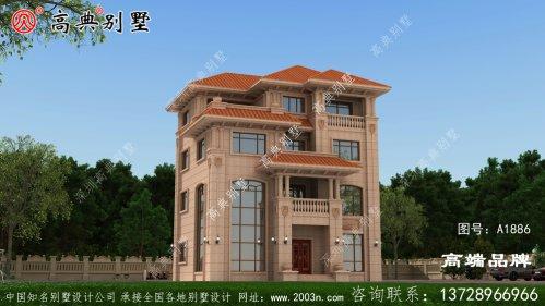 欧式石材四层别墅,建出来比效果图还好看