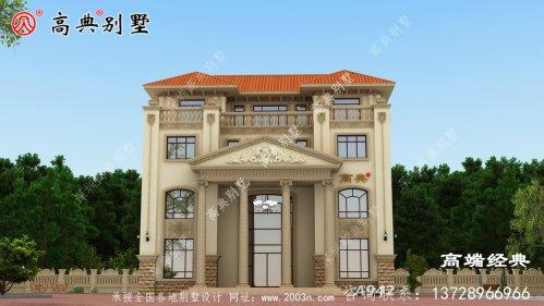 欧式自建别墅,外观美观大方,比楼房更漂亮。