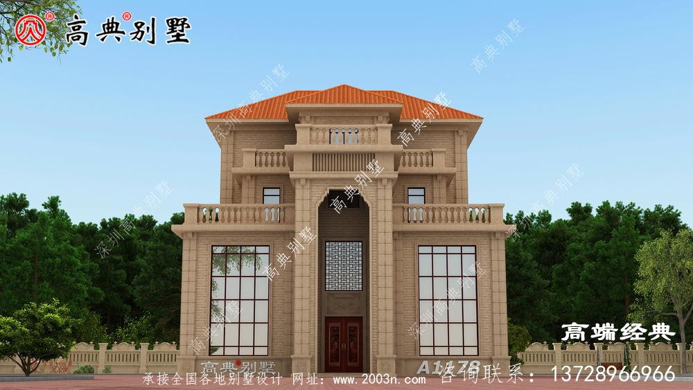 这座别墅,外观美观,布局好。还有什么可挑剔的?
