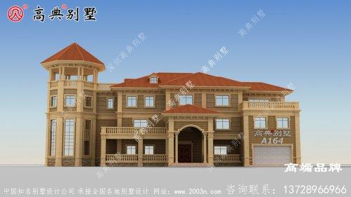 农村二层半自建欧式别墅设计图纸,户型合理实用,适合农村建造